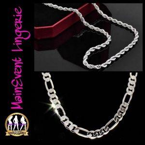 Other - Silver Necklace Bundle set (Unisex) 2pc